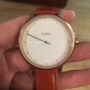NEW Nixon Kensington leather watch - saddle brown